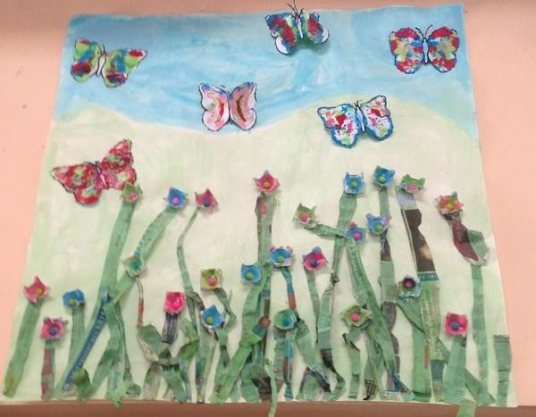 Suite exposition printemps chez myriam i tribune libre for Decoration fenetre printemps maternelle