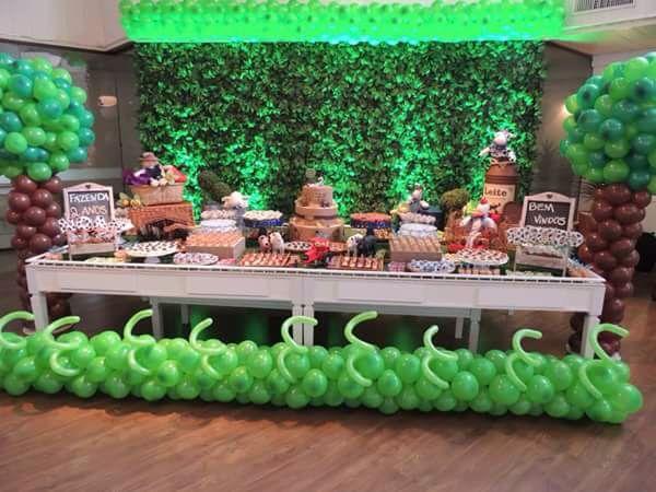 Tendência em festas infantis muro inglês