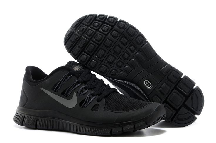 Nike Free 5.0 Mens All Black Training Shoes-www.gettofe...