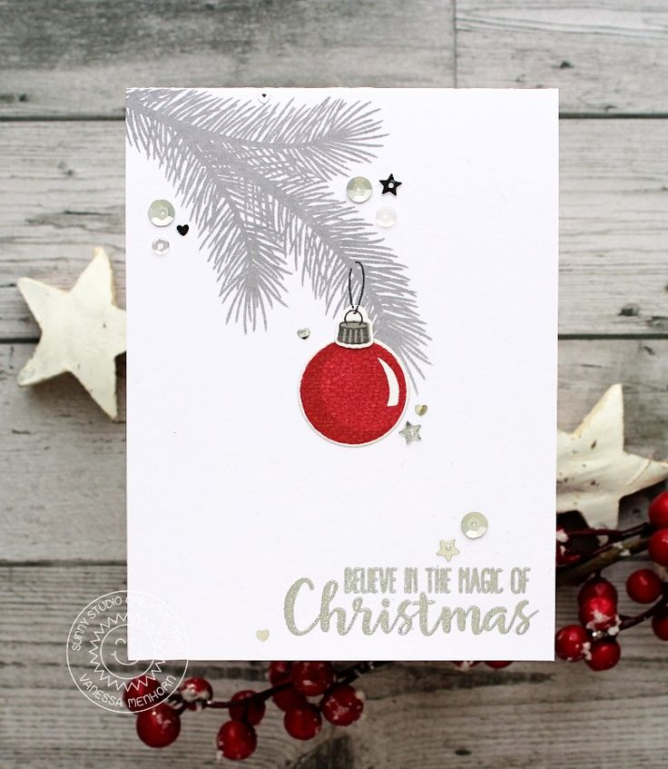 755 best Christmas cards - baubles images on Pinterest | Christmas ...
