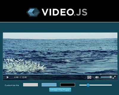Video.js – Open Source HTML5 Video Player  #javascript #html5 #video #player #API #media #opensource #js