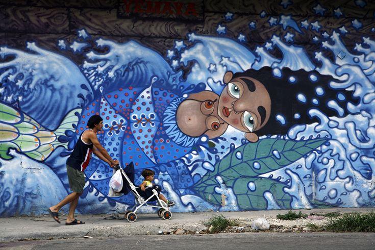 Yemaya, goddess of the sea Porvenir & Concha Streets, Lawton, Havana Victor Mora, artist, 2006, Cubabrasil Project