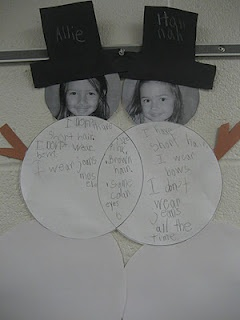 Compare and Contrast. Love it! Great way for kids to make an