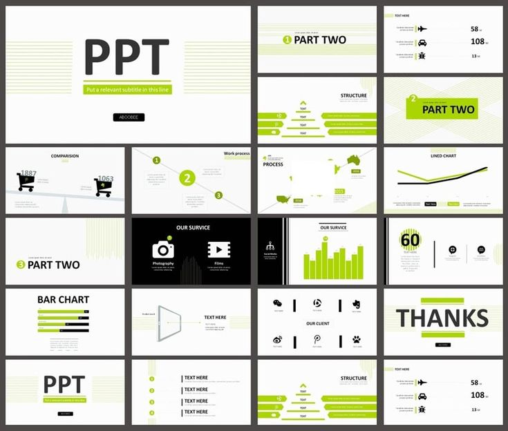 绿色简约风格PPT设计模板