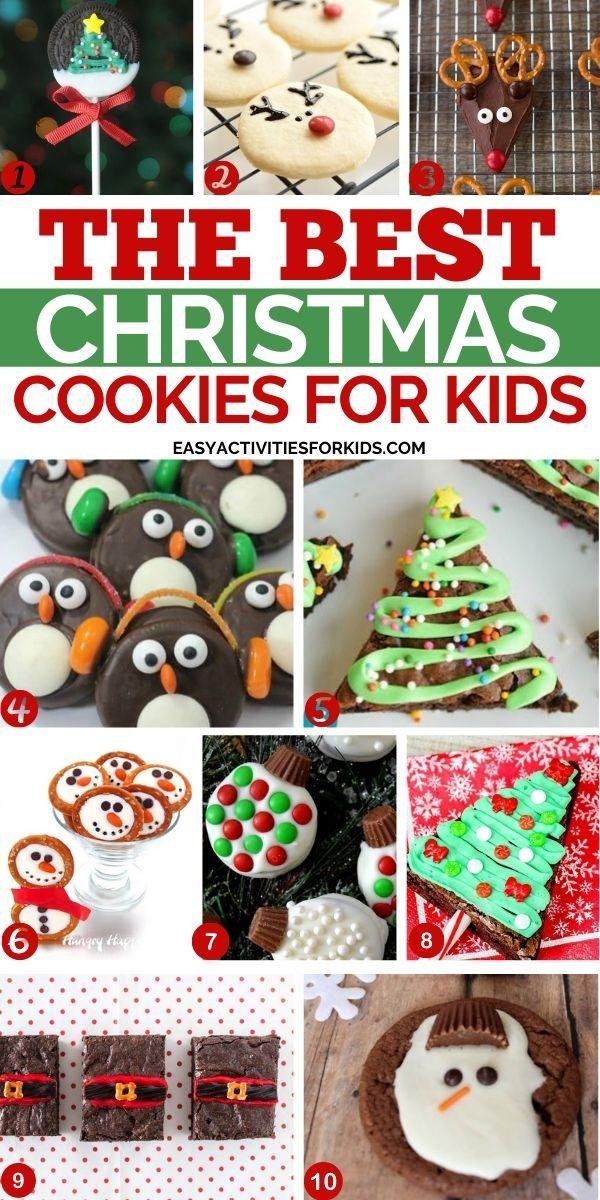 Fun Christmas Cookies Ideas For Kids Creative Christmas Themed Cookies To Make For Your In 2020 Christmas Cookies Easy Christmas Cookies Kids Best Christmas Cookies