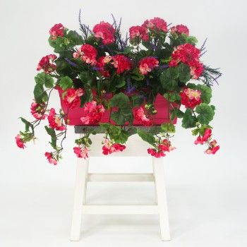 17 best images about plantes artificielles artificial for Geranium artificiel jardiniere