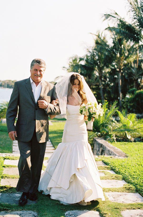 Nassau Wedding—Gown is by Romona Keveza.