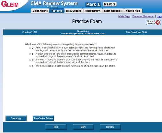 Certified Management Accountant Exam Sample Questions