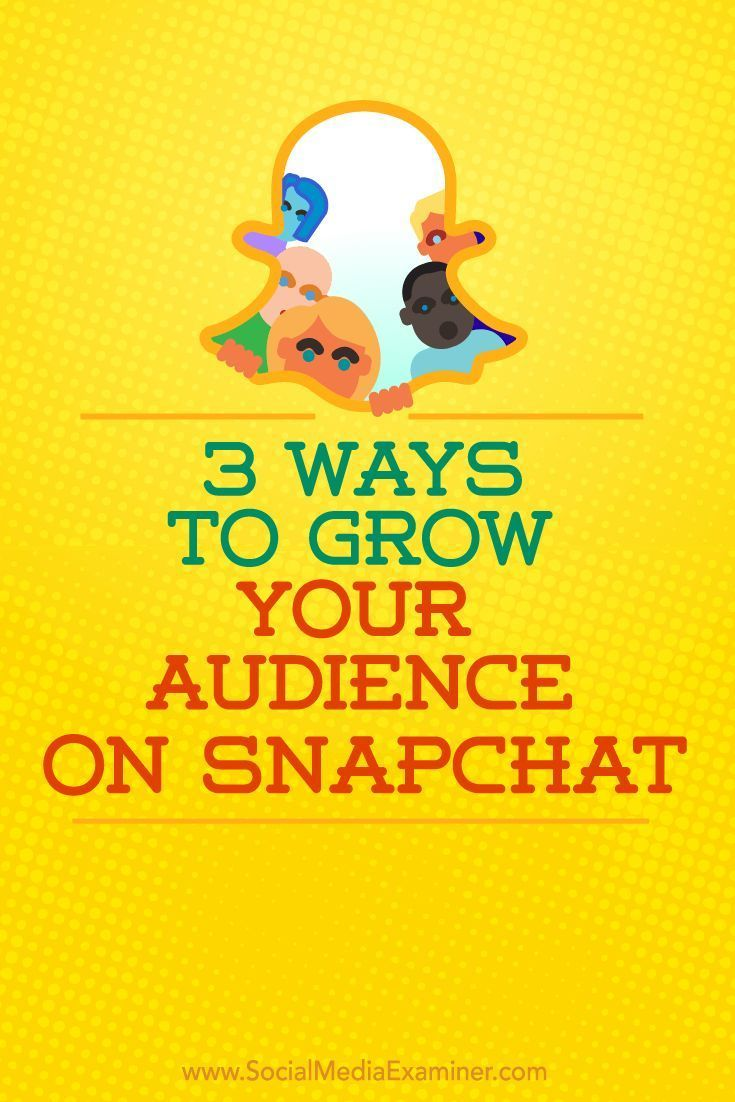 Do you want more followers on Snapchat?  Using the right tools to their fullest potential will grow your following and increase the chances that others will discover your Snapchat profile.  In this article, youll discover three ways to grow your audience
