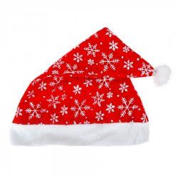 High-grade gold velvet printed snowflake Christmas hats