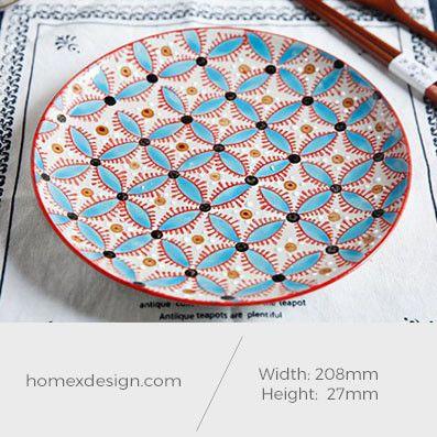 Ceramic colorful blue L plate (2 pieces)