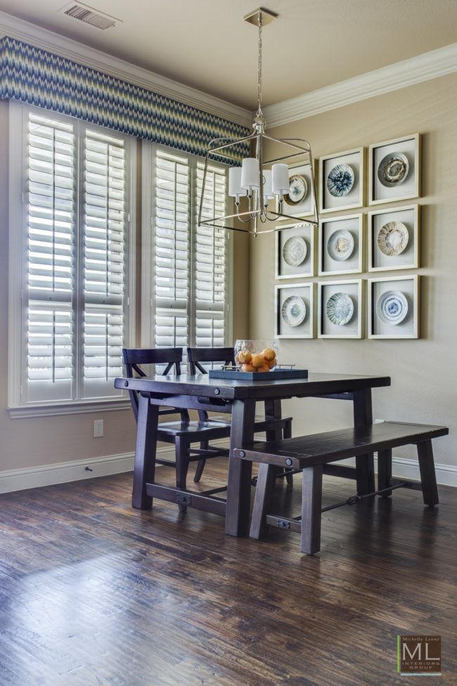 White Dining Rooms A Frisco Family Home Has Cozy Breakfast Nook Complete With Stunning Art And An