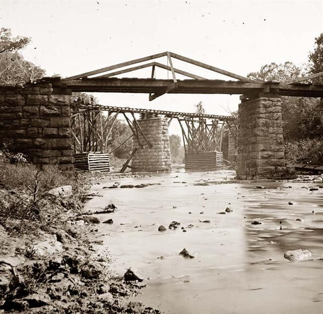 Railroad Bridge Across Platt Creek Knoxville Tennessee