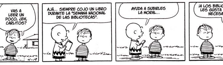 Y seguimos con una nueva entrega de humor a costa de bibliotecas y bibliotecarios. En este caso de nuevo el entrañable Carlitos, y un vídeo...