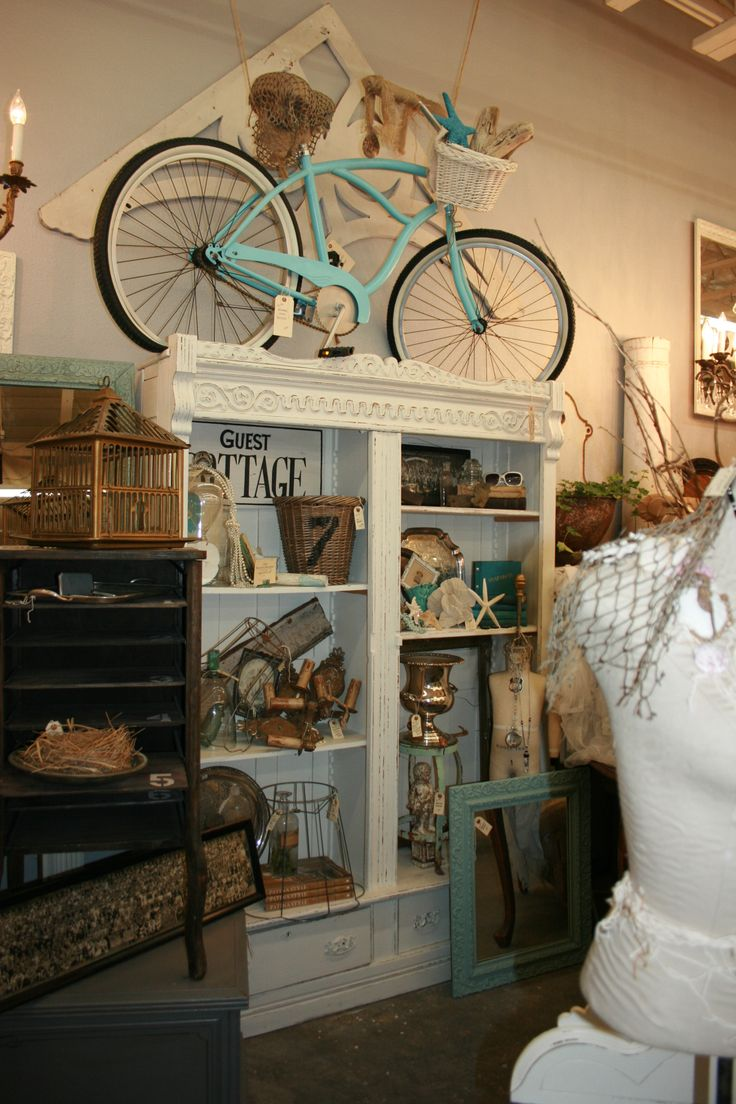 vintage bike, turquoise, cottage  Sweet Salvage, Summer Lovin,   www.sweetsalvage.net  www.blog.sweetsalvage.net