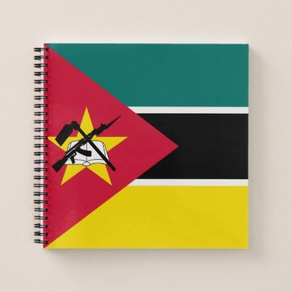#Mozambique Flag Notebook - cyo customize design idea do it yourself