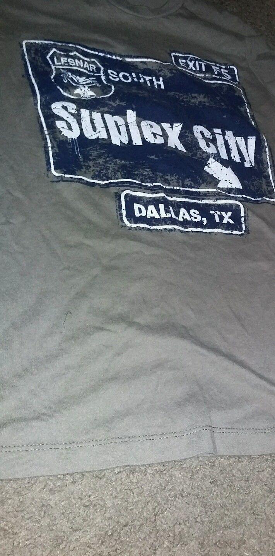 Brock Lesnar Suplex City Dallas, TX WrestleMania 32 Edition T-Shirt small - http://bestsellerlist.co.uk/brock-lesnar-suplex-city-dallas-tx-wrestlemania-32-edition-t-shirt-small/