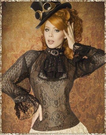 Bluse Bridget schwarzbraun