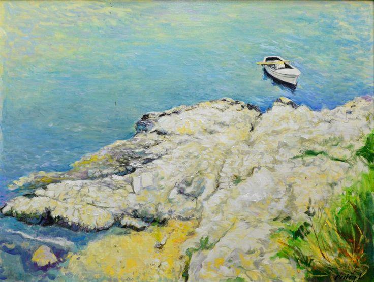Horvát tenger, olaj vásznon, 100x75 cm