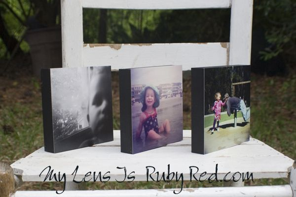 DIY Photos on Wood Block - easy photo project via My Lens is Ruby Red
