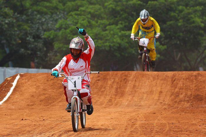 Prestasi terakhir Elga Kharisma dalam kejuaraan BMX Indonesia 2015