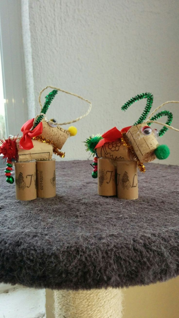 I made these cute little Reindeers for my location cat rescue centre to sell for funds. They are so simple and quick to do. I added little jingly bells and beads for their tails. There is a video link below to the whoot website. Happy crafting.