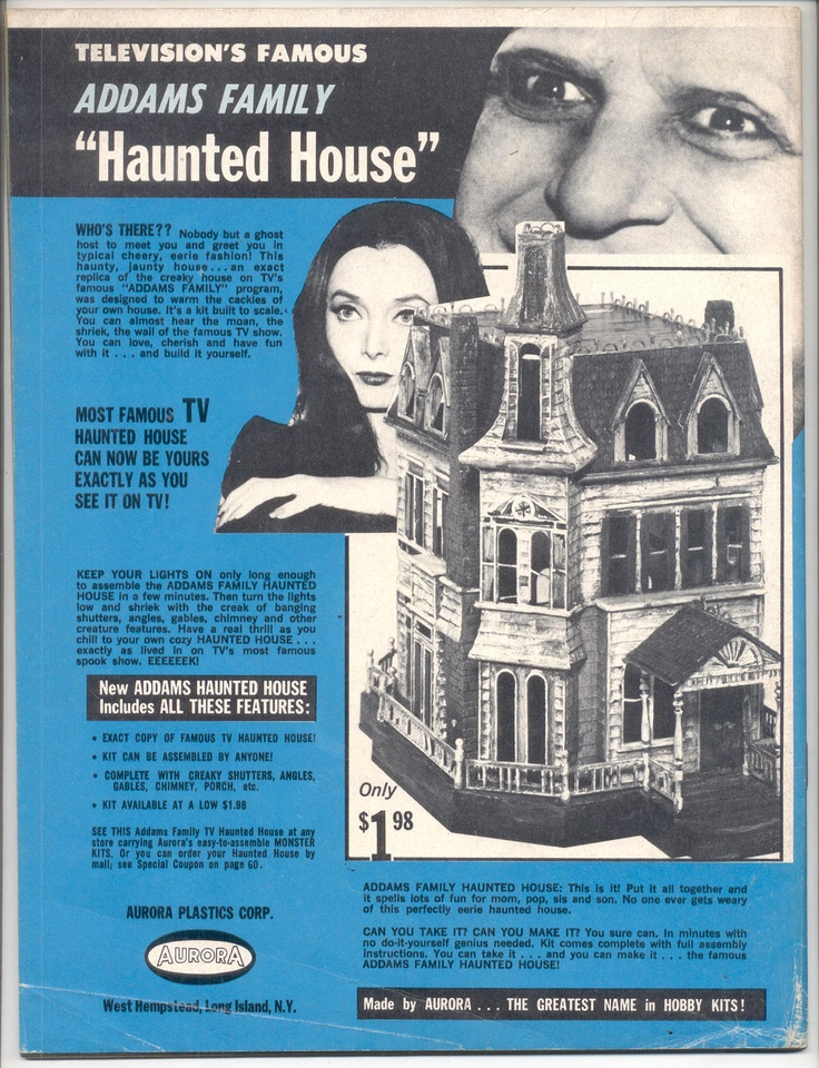 The Addams Family Haunted House Aurora Model Kit 1965