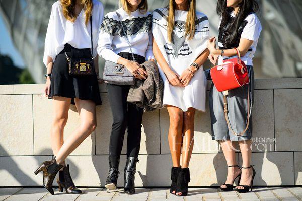《Vogue》日本版自由时装总监及创意顾问安娜·戴洛·罗素(Anna Dello Russo) (右二)