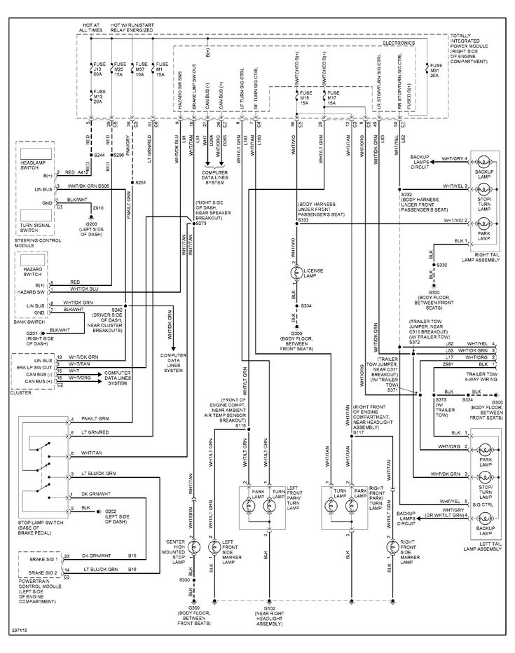 Jeep Taillight Wiring Diagram with Turn Signal Switch and