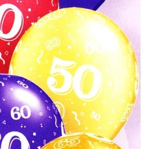 50th Latex Balloons