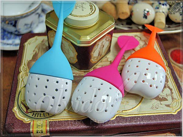 Ceramiczny zaparzacz do herbaty z listkiem