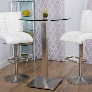 Shop for 43-inch Height Round Glass Brushed Stainless Steel Bar Table Pub Table. Get free delivery at Overstock.com - Your Online Furniture Shop! Get 5% in rewards with Club O!