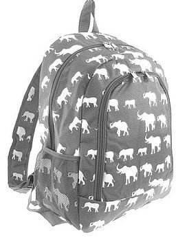 Details: Size: Approx. 15.5 L x 13 W x 5.75 Deep Color: GRAY Style: Zipper top backpack Great for back to school! 1 large front zipper pocket 2