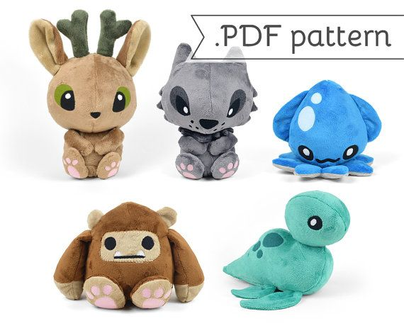 25 b sta plush pattern id erna p pinterest mjukdjur for Sewing templates for stuffed animals