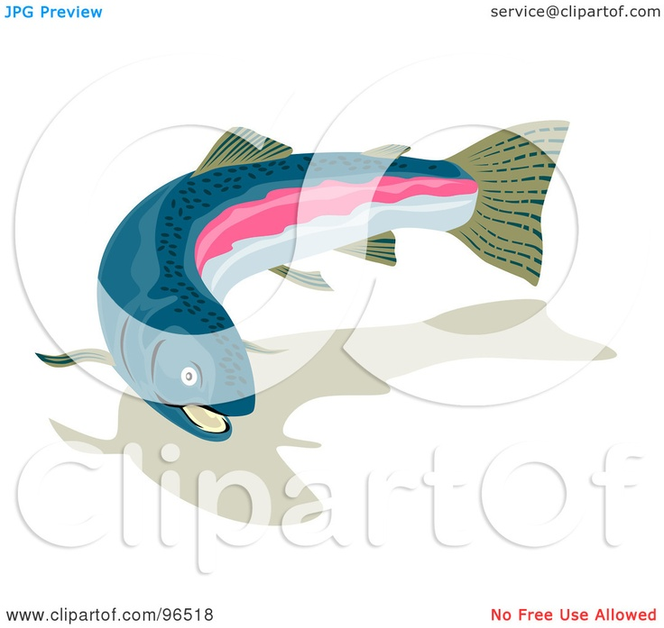 Rainbow Trout Pictures Free | Royalty-Free (RF) Clipart Illustration of a Swimming Rainbow Trout ...