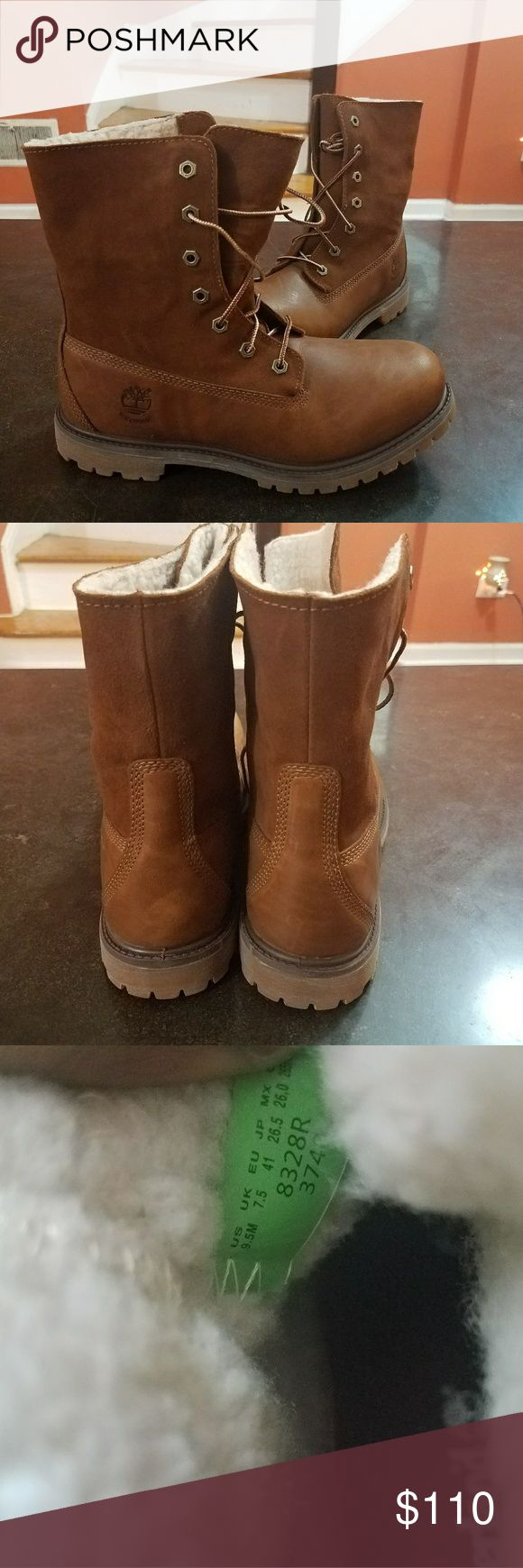 Brown timberland boots Cozy brown timberland boots Timberland Shoes Winter & Rain Boots