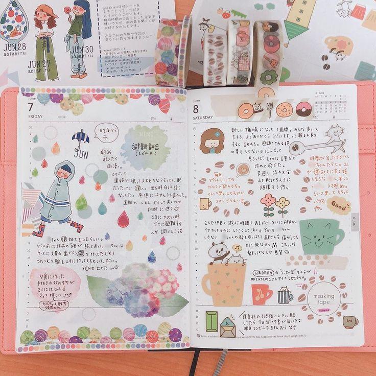 Pin By スレンダー On ノート Art Journal Hobonichi Planner Journal Planner