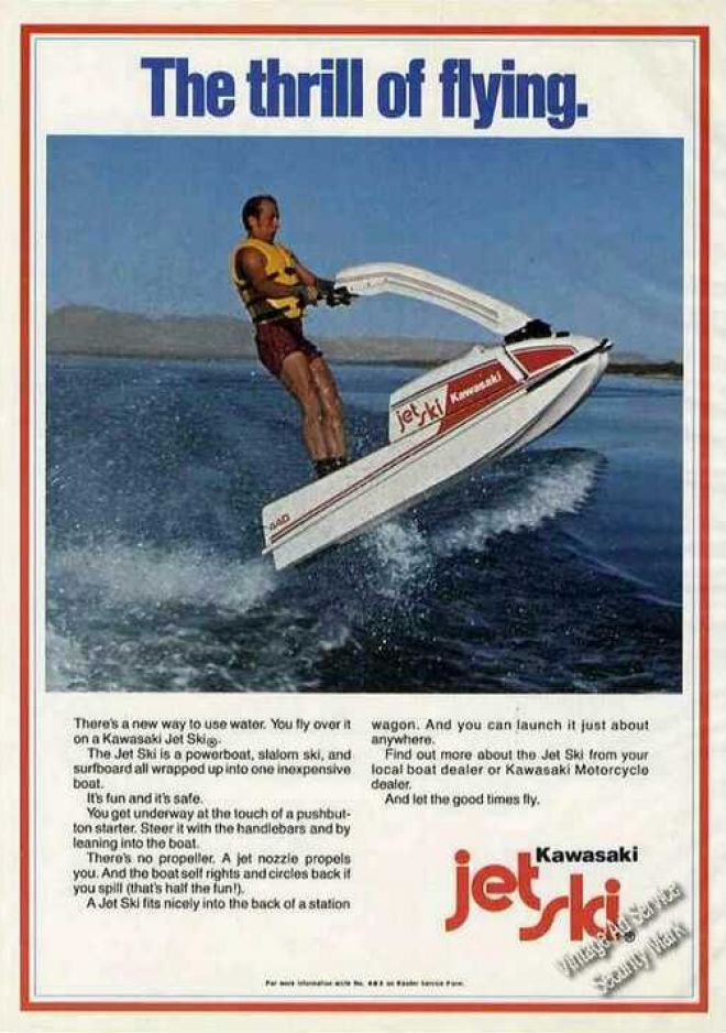 Vintage Transportation Ads of the 1970s. #kawasaki #jetski #vintage