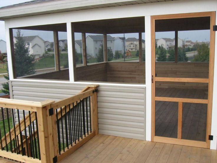diy screened in porch custom screened porch cedar deck. Black Bedroom Furniture Sets. Home Design Ideas