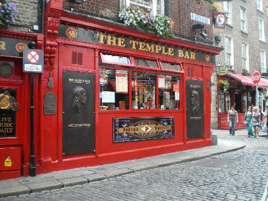 """★ Temple Bar neighborhood -- Dublin, 27 Eustace Street -- Temple Bar is an area on the south bank of the River Liffey in central Dublin, Ireland. Unlike the areas surrounding it, Temple Bar has preserved its medieval street pattern, with many narrow cobbled streets. It is promoted as """"Dublin's cultural quarter"""" and has a lively nightlife that is popular with tourists."""