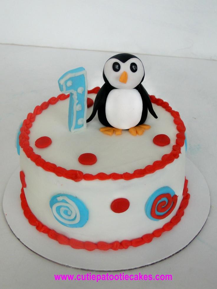 Birthday Cake Ideas Penguin : Penguin Smash Cake 1st Birthday Cakes Pinterest ...