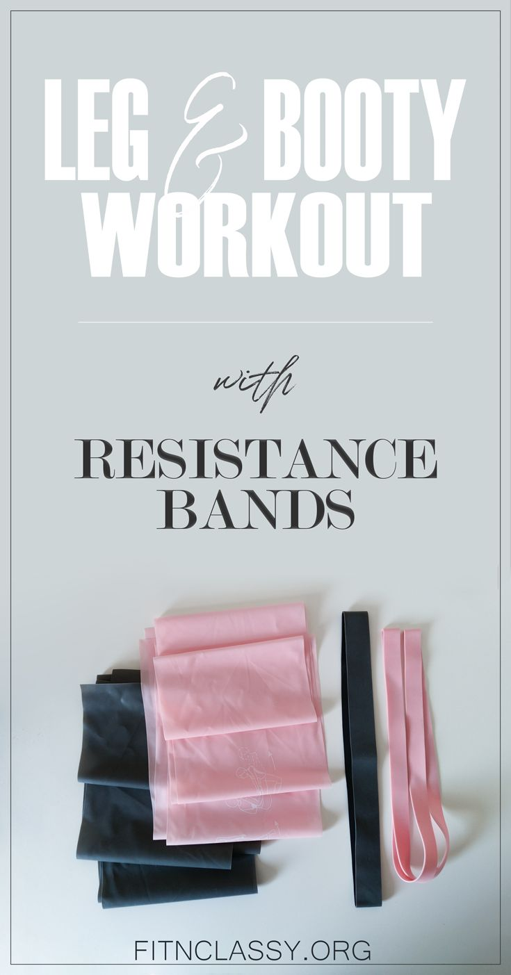 Leg and booty home workout with resistance bands. Add a little bit more variety to your usual workout and make it more demanding. #fitness #legday #workout