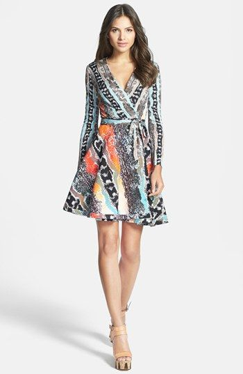 Diane von Furstenberg 'Amelia' Cotton Blend Wrap Dress available at #NordstromI   i want this one.