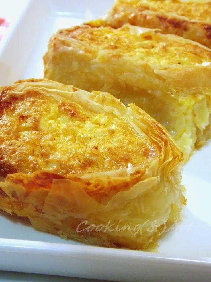 Μαγειρική(&)Τέχνη!: Ρολό τυρόπιτας / Cheese pie roll !