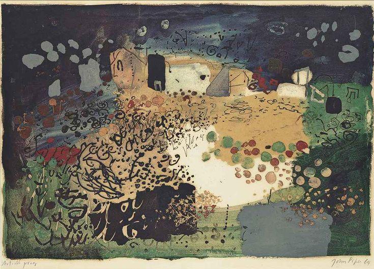 John Piper (1903-1992) Welsh Landscape, Tretio screenprint in colours, 1969, on wove paper, sign...