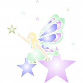 Stencils for Walls' Star Fairy Stencil would be a great addition to any baby girls nursery. Stencilling is an effective and versatile way to customize any flat surfaces you may have. Our stencils are cheap and easy to use and also offer impeccable quality.