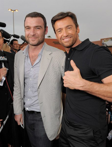 Liev Schreiber & Hugh Jackman So much good stuff going on in that picture. I'm about to pass out....