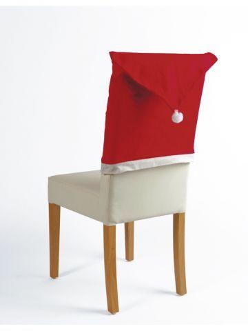 Housse de chaise en bonnet de père Noel