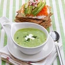 Grön ärtsoppa - Crème Ninon - Recept