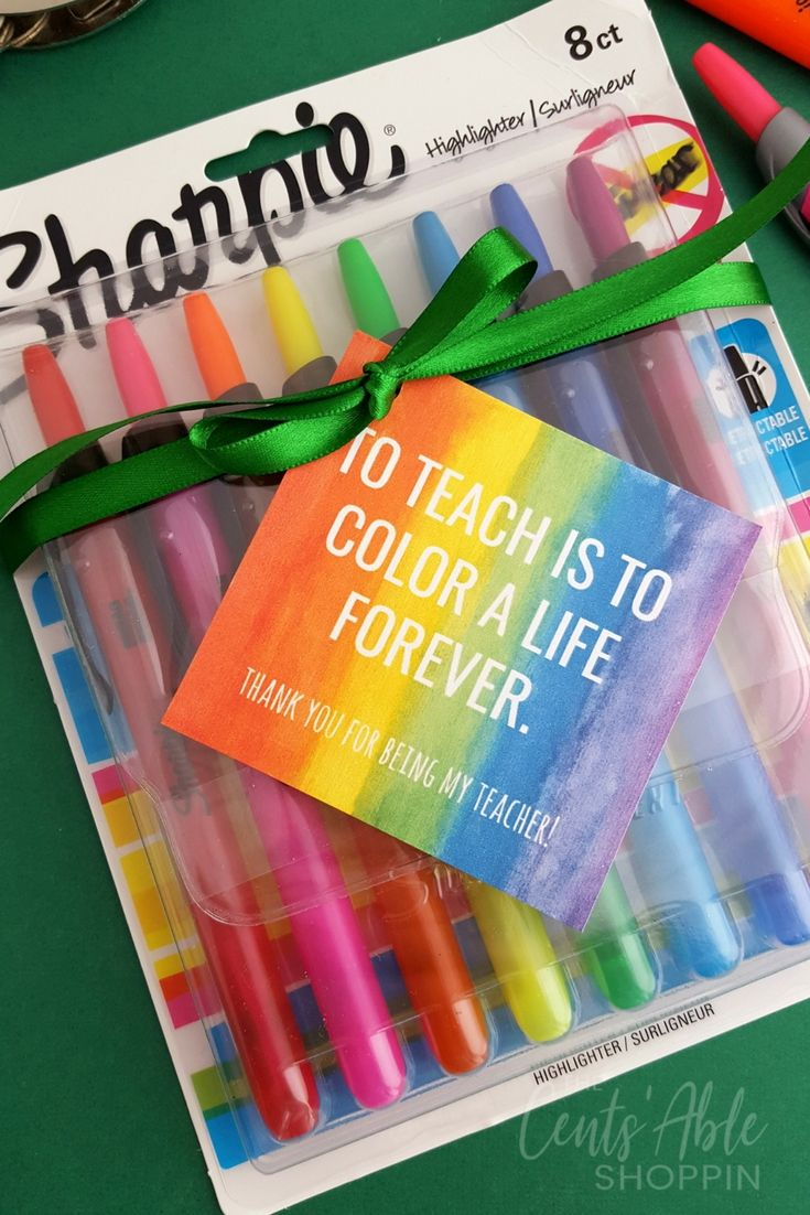 Teacher Appreciation Gift Tag Printable via @centsableshop
